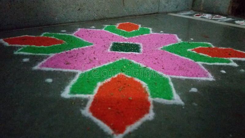 Diwali Rangoli στοκ φωτογραφία με δικαίωμα ελεύθερης χρήσης