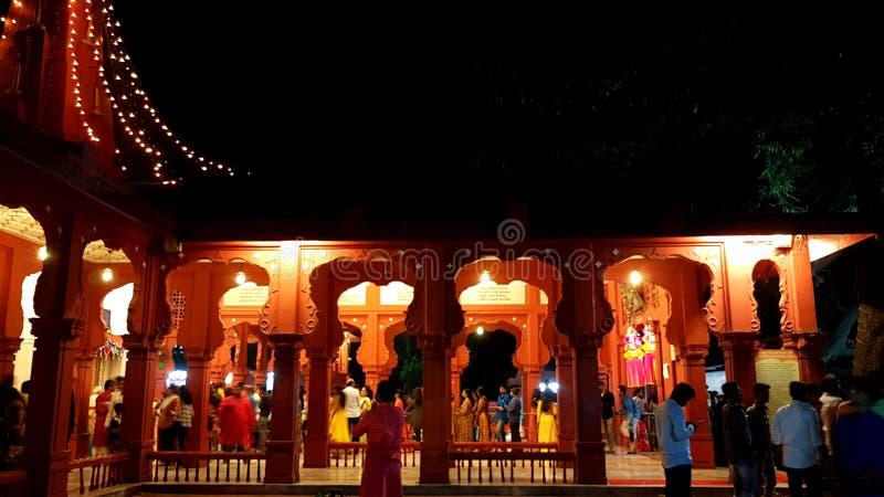 Diwali tempel i morgon arkivfoton