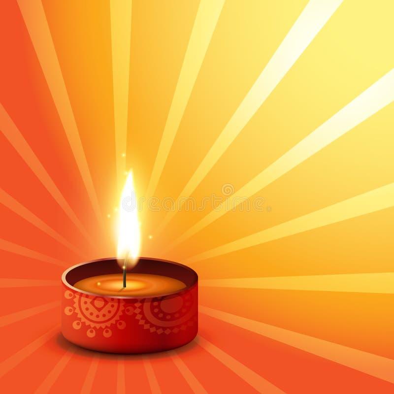 Diwaliachtergrond van Hindoes festival stock illustratie