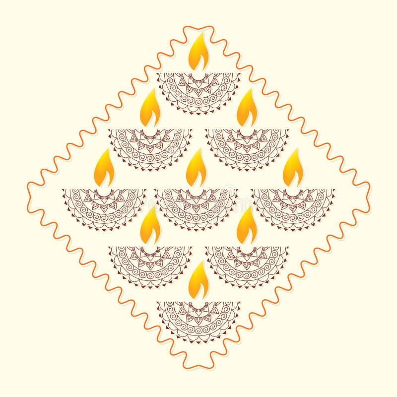 Diwaliconcept royalty-vrije illustratie
