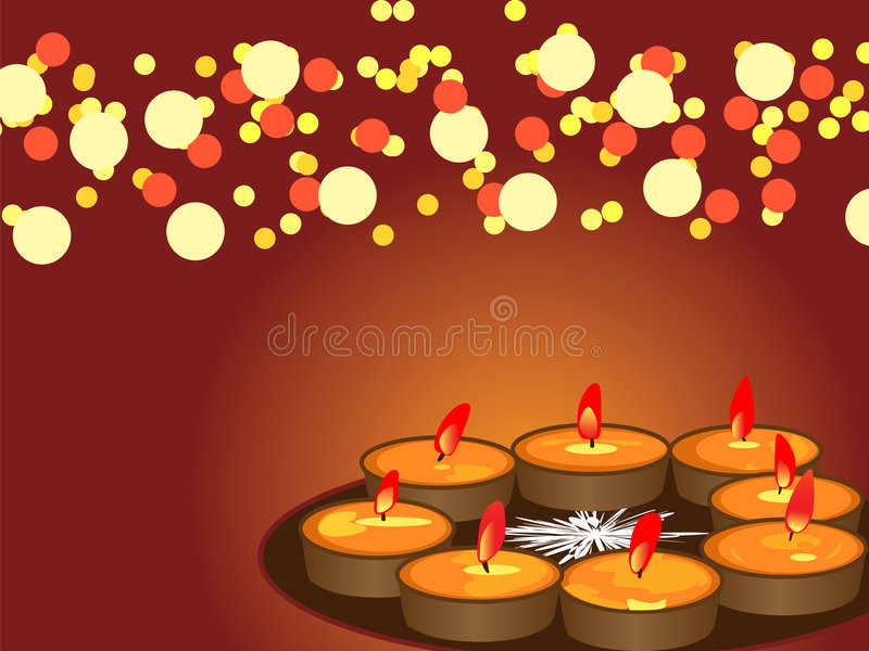 diwalifestivallampor royaltyfri illustrationer
