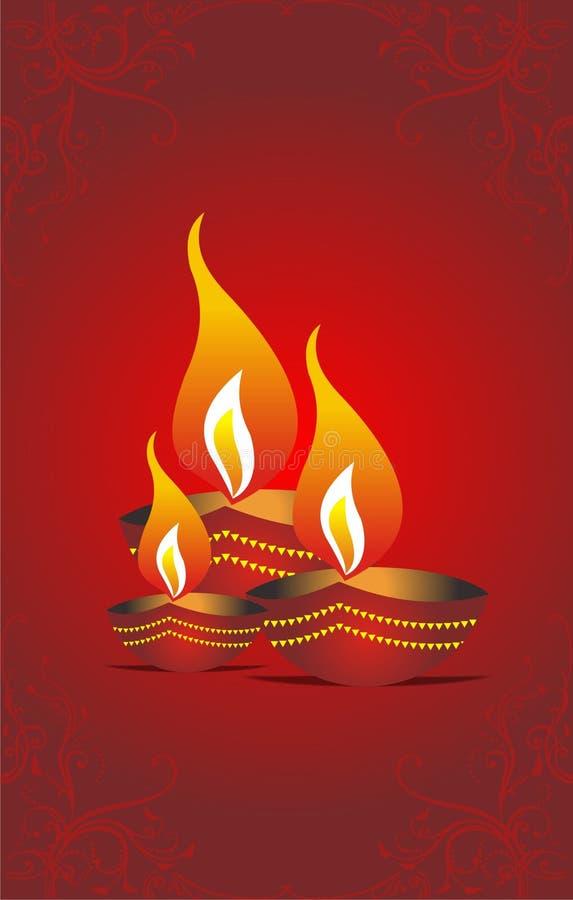 Diwalihälsning Arkivbilder