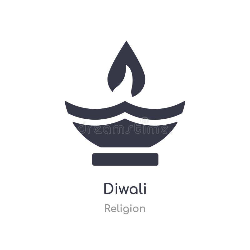 Diwalipictogram de geïsoleerde vectorillustratie van het diwalipictogram van godsdienstinzameling editable zing symbool kan gebru royalty-vrije illustratie