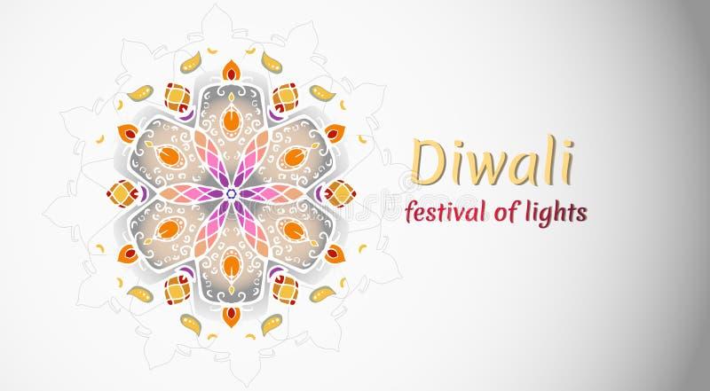 Diwalivakantie, festival van lichten vectorillustratie vector illustratie