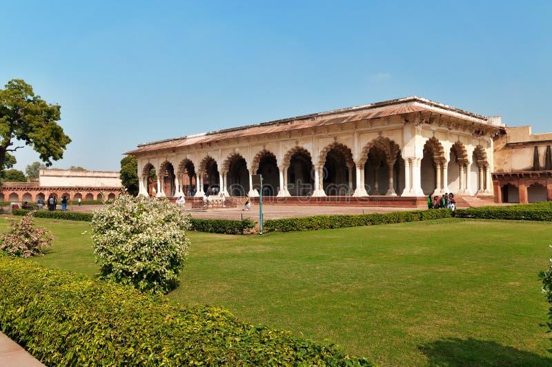 Diwan bin ich, Hall des allgemeinen Publikums in rotem Agra-Fort lizenzfreies stockbild