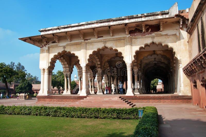 Diwan bin ich, Hall des allgemeinen Publikums in rotem Agra-Fort stockfotos