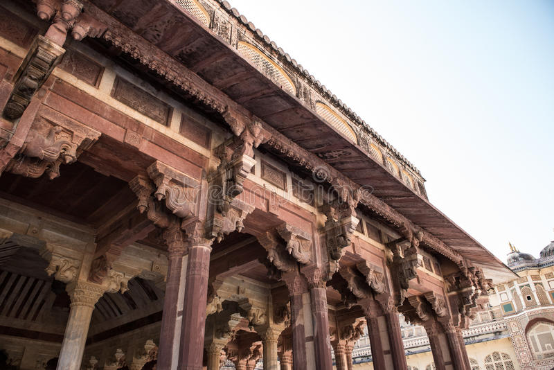 Diwan-e-Aam в янтарном форте стоковое фото rf