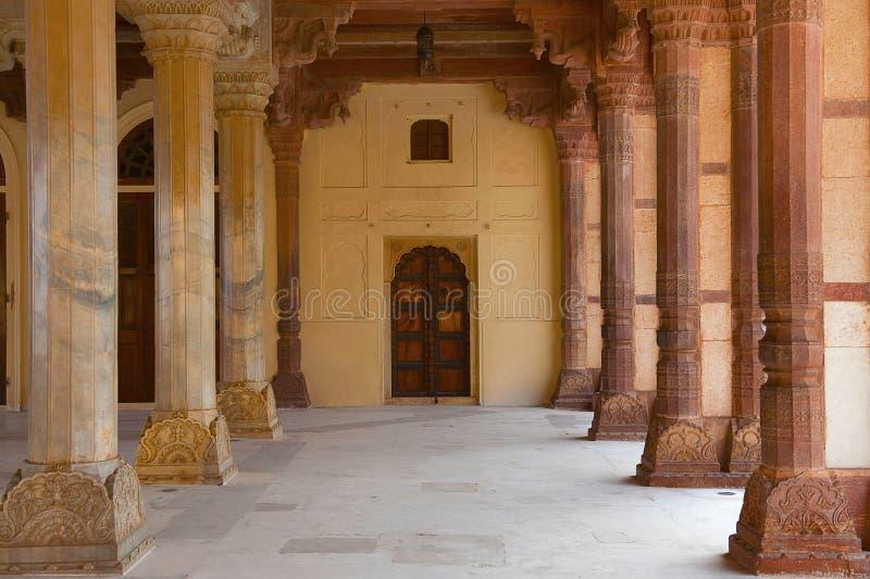 Diwan-e-Aam Hall av offentliga åhörare, Amer Fort, Rajasthan royaltyfri bild
