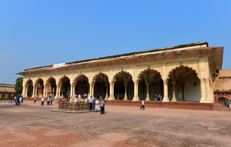 Diwan-eu-Estão do forte de Agra imagem de stock