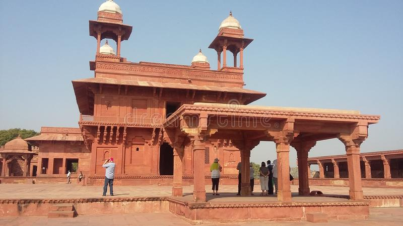 Diwan-I-Khas, Fatehpur Sikri stock afbeelding