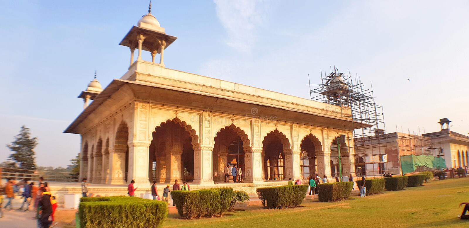 The Diwan-i-Khas, Hall of Private Audiences, located in the Red Fort of Delhi stock photos