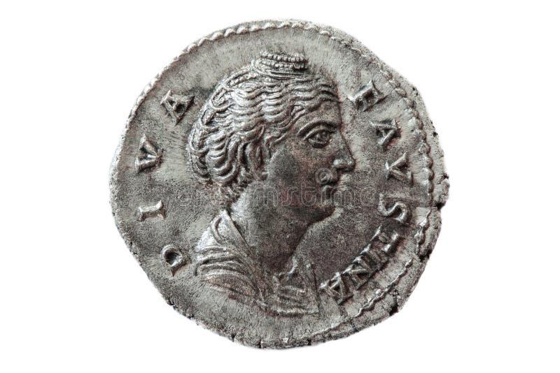 Diwy Faustina rzymska moneta fotografia royalty free