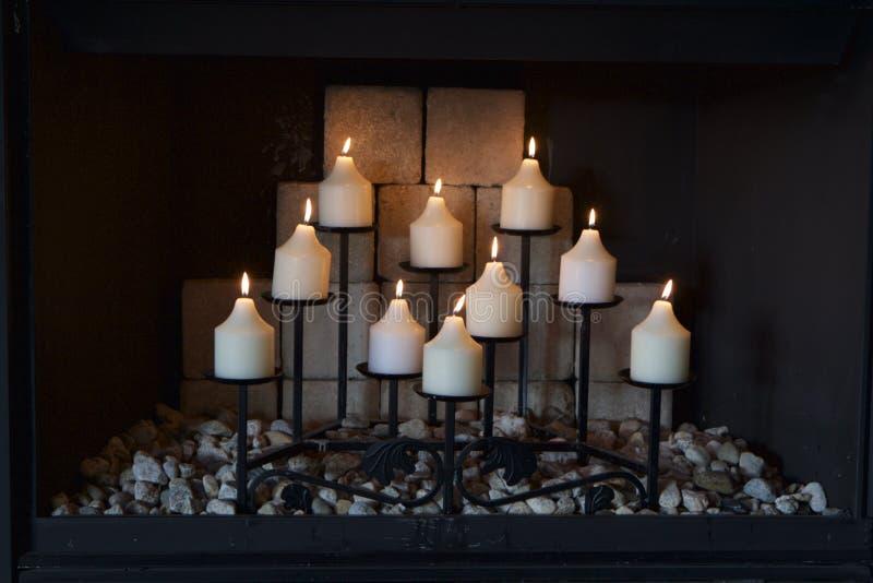 Dix bougies photos stock