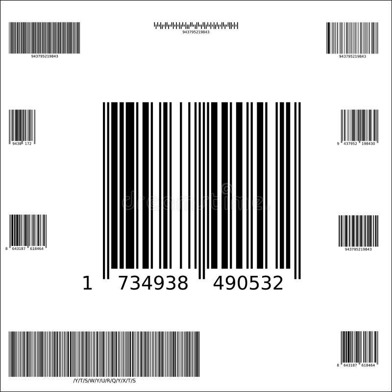Dix codes barres de vecteur d'échantillon illustration de vecteur