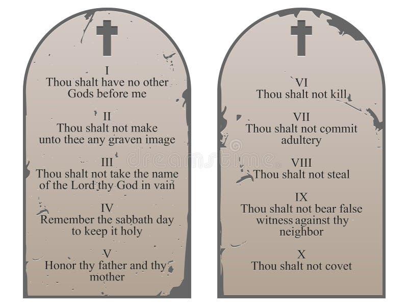 Dix commandements illustration libre de droits