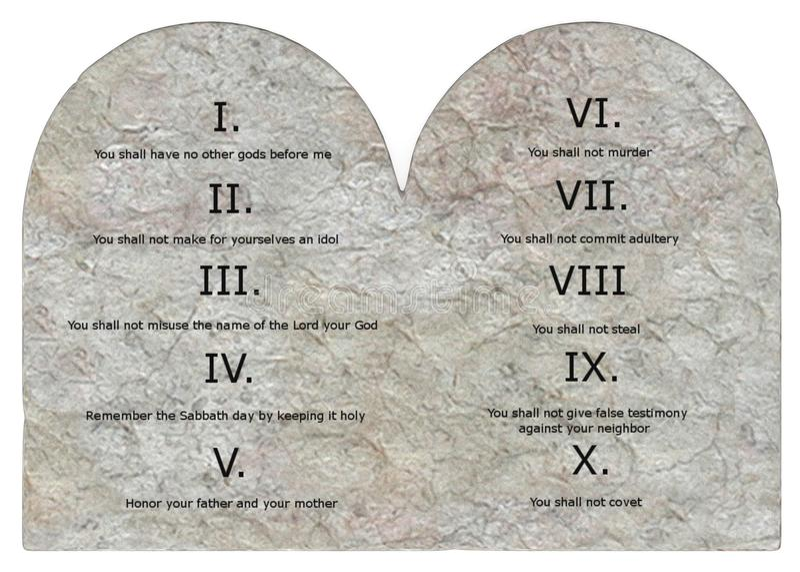 Dix commandements (3) illustration de vecteur