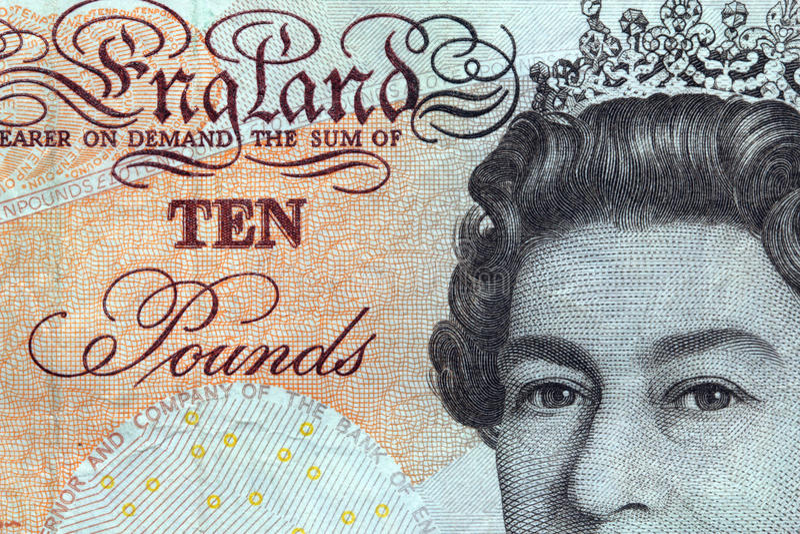 Dix livres billet de banque-Angleterre. image libre de droits