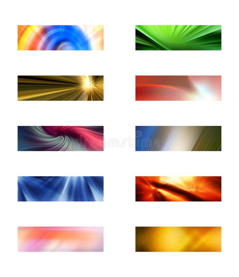 Dix milieux rectangulaires abstraits illustration libre de droits