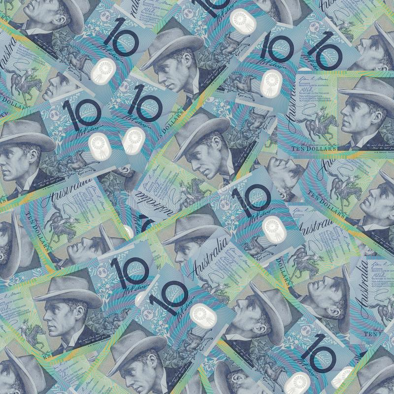 Dix notes australiennes du dollar, comportant le banjo Paterson et Mary Gilmore images libres de droits