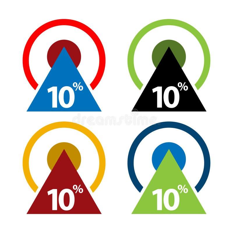 Dix pour cent, illustration ascendante de flèche illustration de vecteur