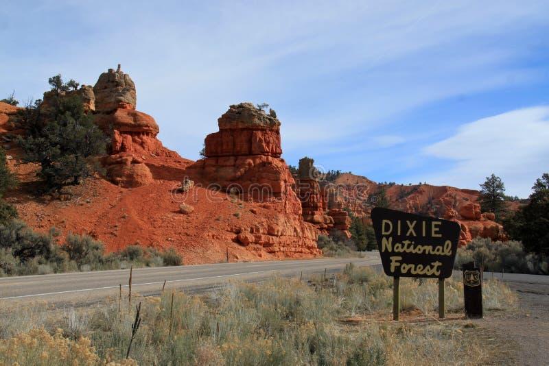 Dixie National Forest immagini stock libere da diritti