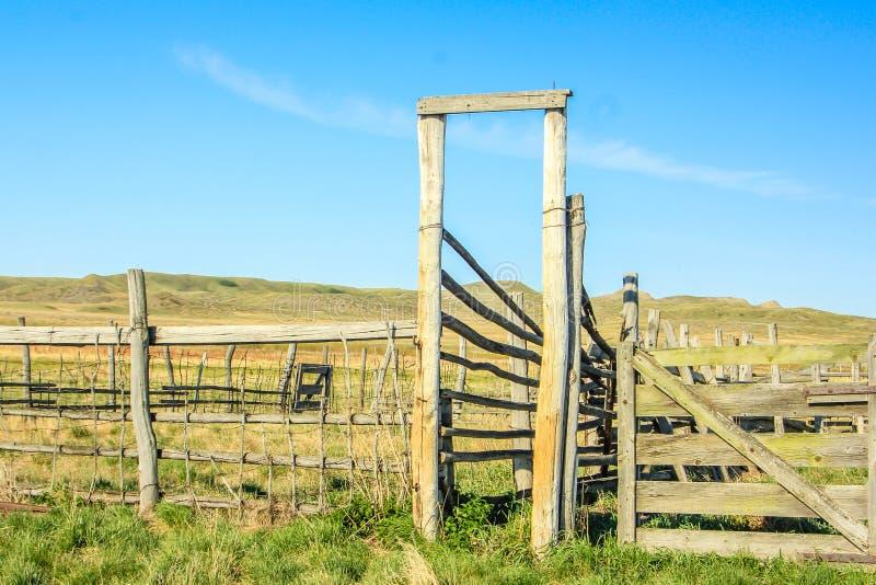 Dixon-Ranch, Wiesen Nationalpark, Saskatchewan, Kanada lizenzfreie stockfotografie