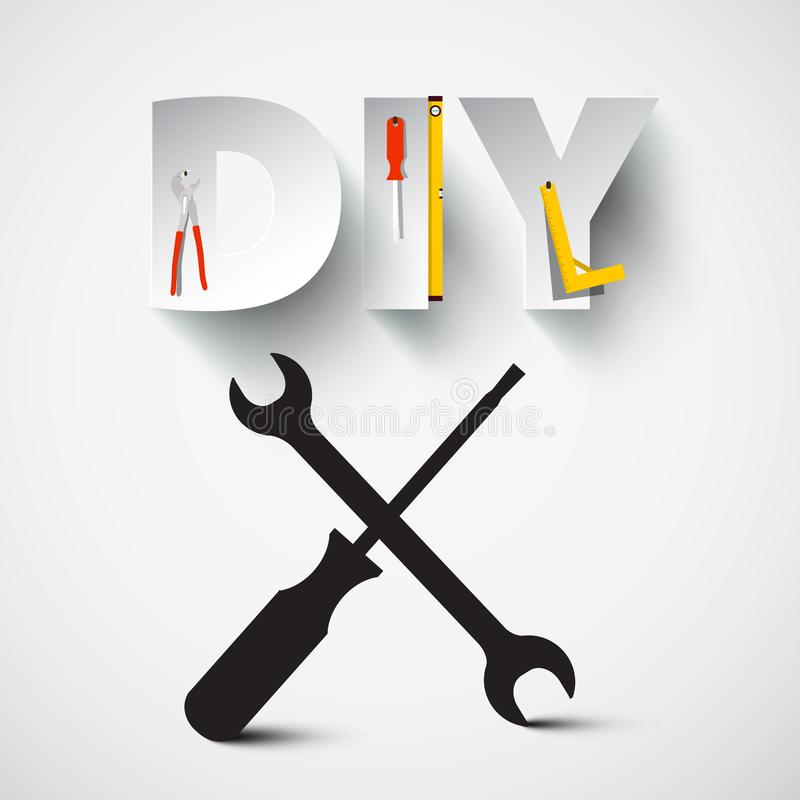 DIY -它你自己导航与螺丝刀的设计 向量例证