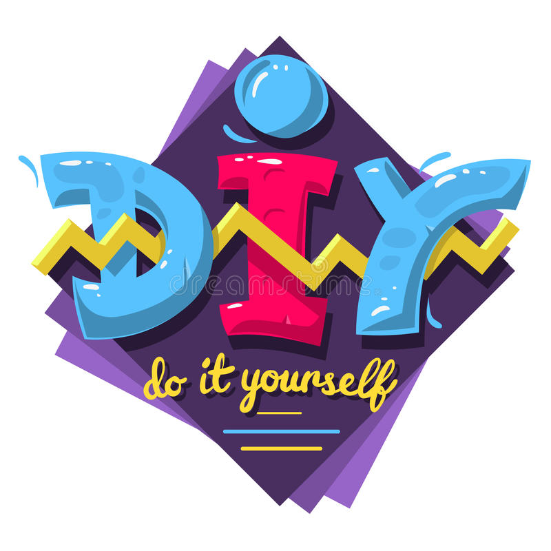 Diy acronym do it yourself 90 s vibrant colors aesthetic typ download diy acronym do it yourself 90 s vibrant colors aesthetic typ stock vector solutioingenieria Images