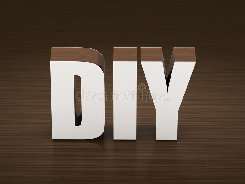 DIY-Akronym tun es sich lizenzfreie stockbilder