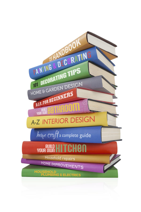 DIY Bücher stock abbildung