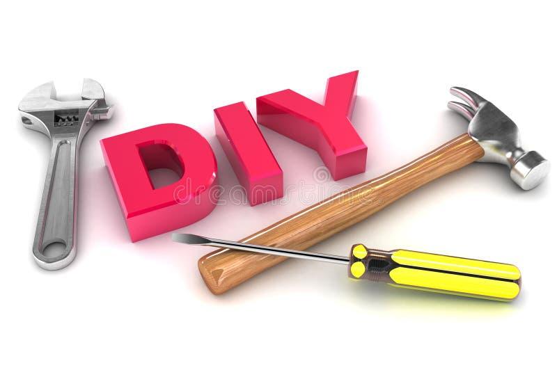 DIY-begrepp stock illustrationer