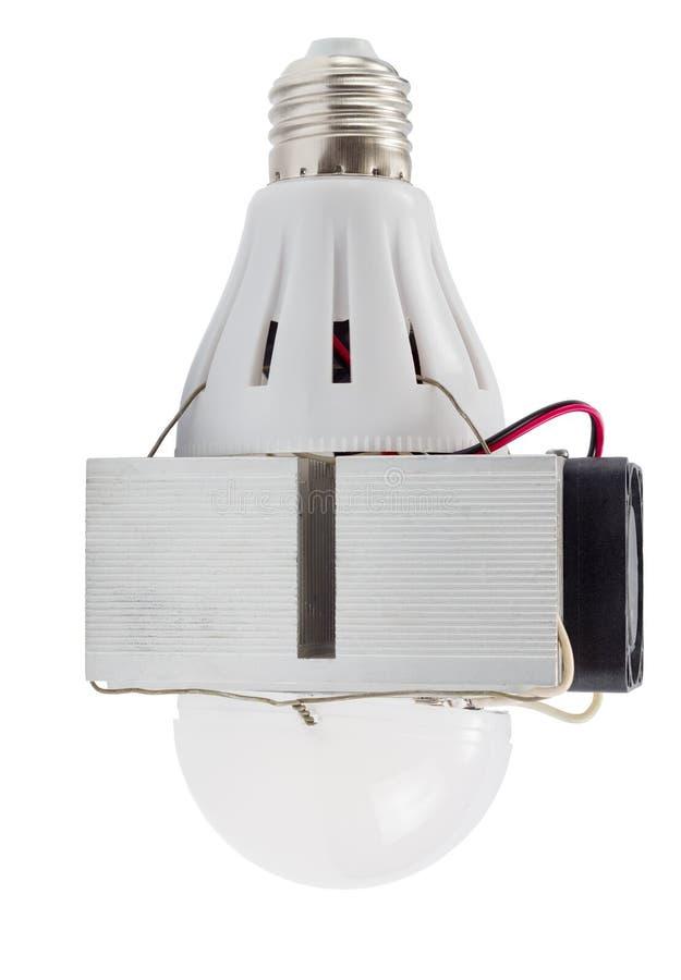 Diy conduziu a lâmpada isolada imagem de stock