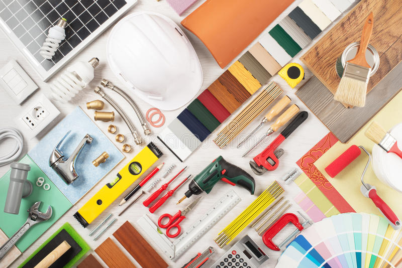 DIY et rénovation à la maison photographie stock