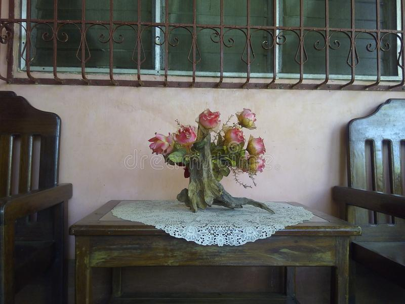 DIY flower vase. This is a DIY flower vase stock photos