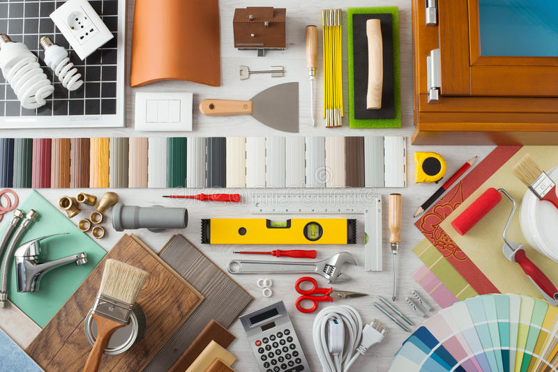 DIY i domowy odświeżanie obraz stock