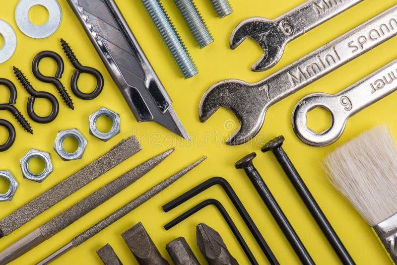 DIY image.a lot of tools. Still life royalty free stock photo