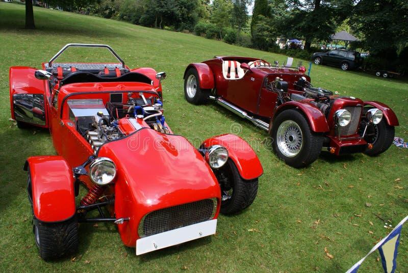 DIY Kit cars. Kit cars. component cars. Kit cars show. Red kit cars or component cars in a kit cars show stock photo