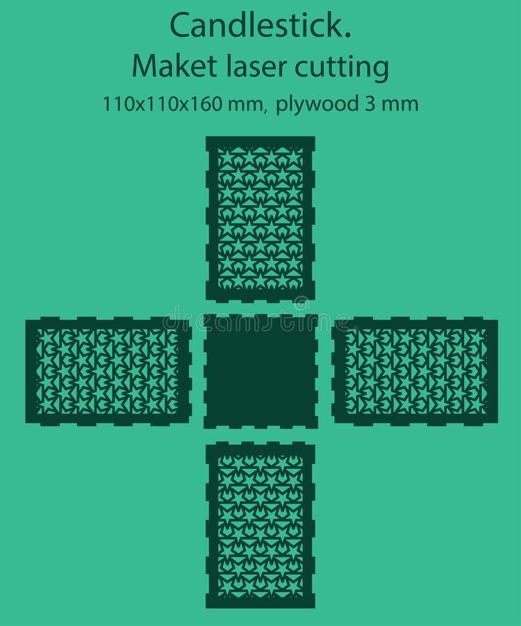 DIY Laser Cutting Vector Scheme For Candle Holder  Woodcut Lantern