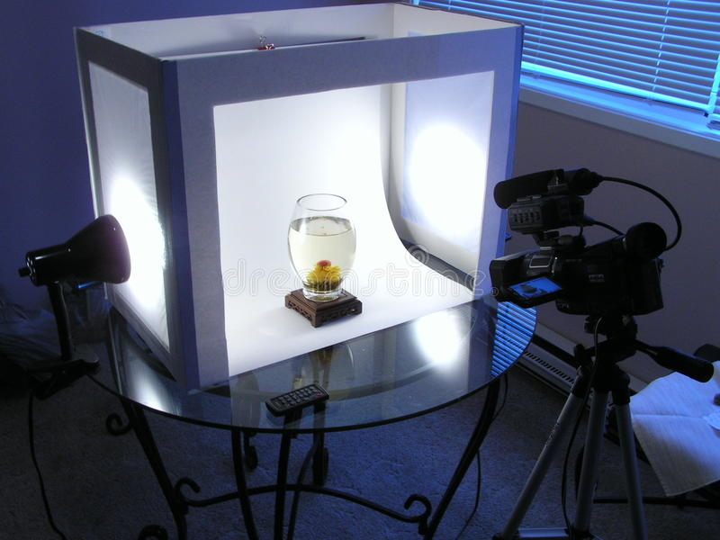 DIY lightbox stock image