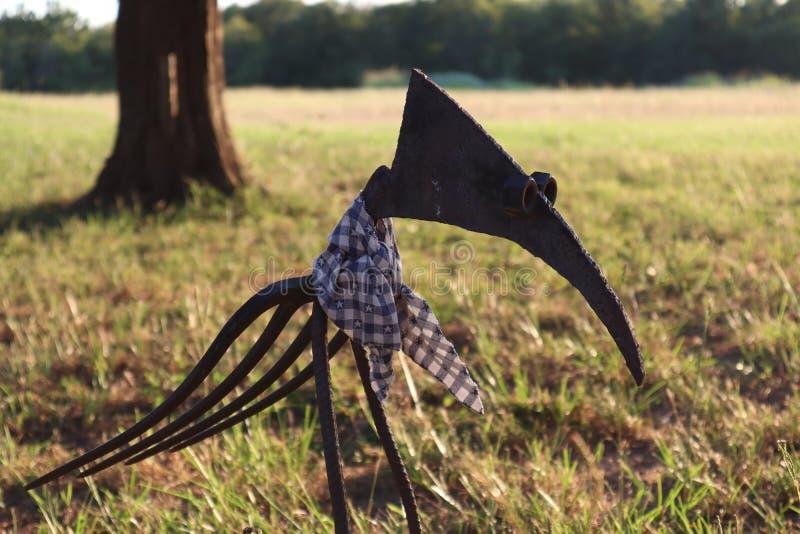 DIY metalu ptak obraz stock