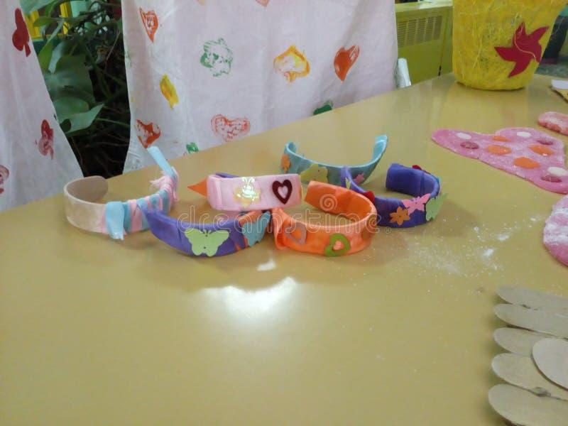 Diy popsicle stick bracelets royalty free stock image