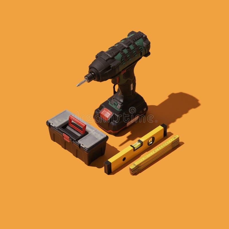 DIY and home repair tools stock illustration