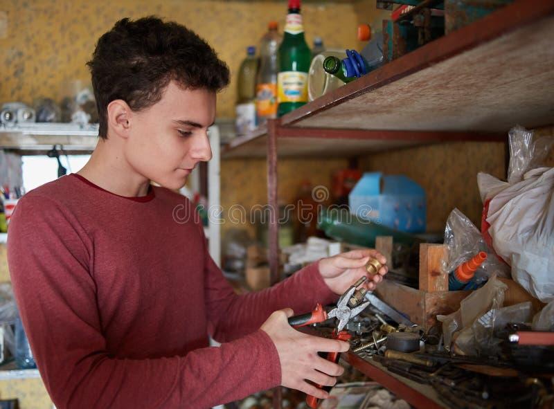 Download DIY project stock image. Image of teenage, handyman, plumber - 66431117