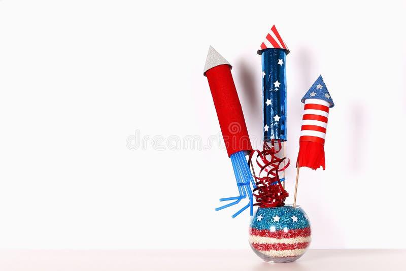 Diy 4th Lipa wystroju koloru flaga ameryka?ska, czerwie?, b??kit, bia?y Prezenta pomys?, wystroju usa dzie? niepodleg?o?ci ilustracja wektor