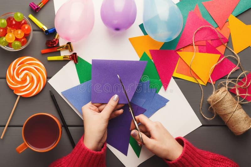 DIY-vakantieachtergrond, de decoratie van de verjaardagspartij royalty-vrije stock foto
