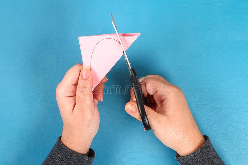 DIY Valentines Day greeting card on 14 february stock photos