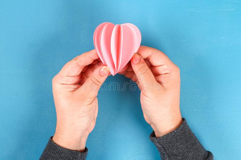 DIY Valentines Day greeting card on 14 february royalty free stock images