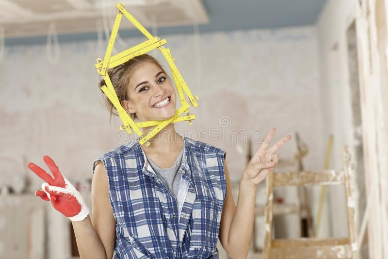 Download DIY woman stock image. Image of carpenter, flat, domestic - 29117077