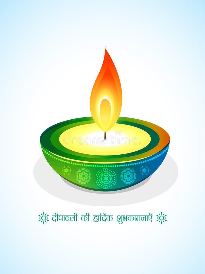 Diya creativo del diwali stock de ilustración