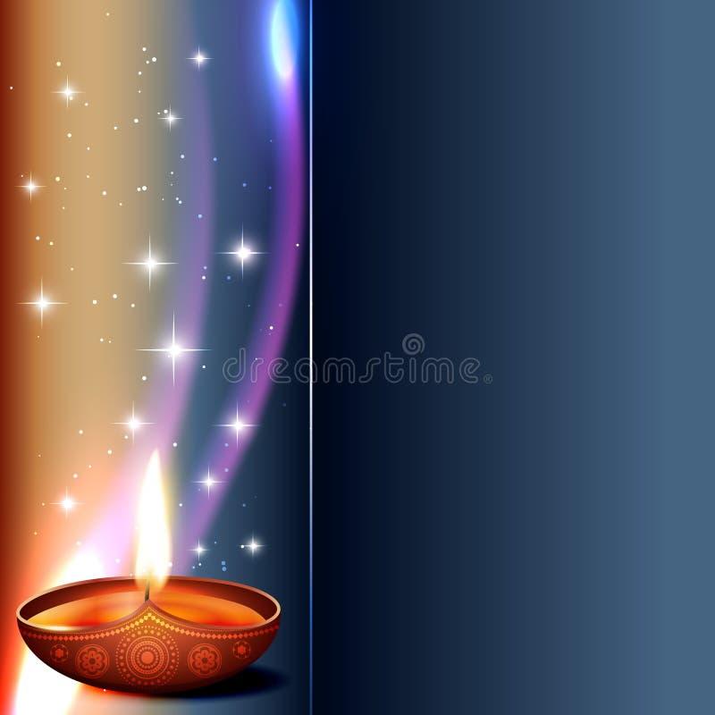 Diya del diwali del vector libre illustration